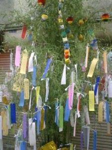 Tanabata tree decorations