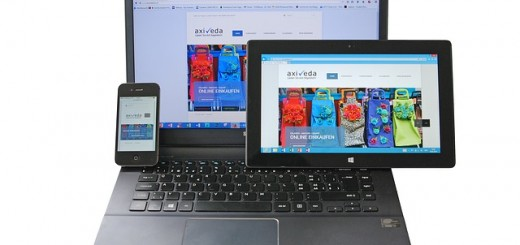 A laptop, tablet, and a smartphone.