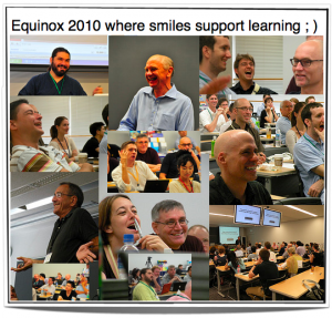Smiles support learning