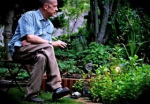 Chuck in his garden