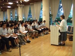 Joy's speech in Sendai