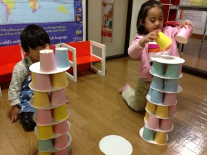 paper cup tower