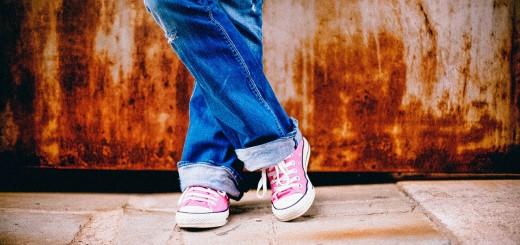 A teen's feet