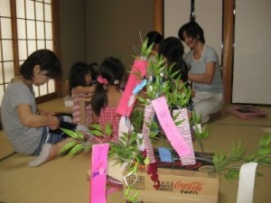 making Tanabata decorations