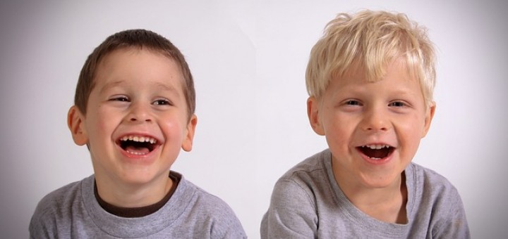 A couple of boys laughing