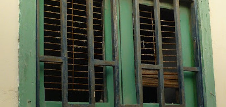 Windows with bars over them