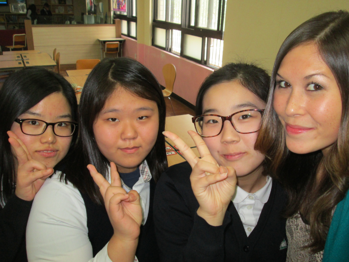 With students