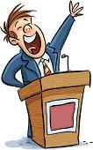 confident public speaker